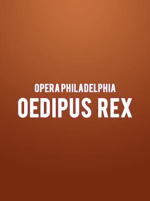 Opera Philadelphia - Oedipus Rex at Academy of Music