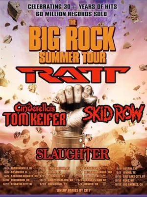 RATT, Tom Keifer, Skid Row, and Slaughter Poster